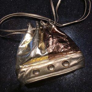Vintage Bags - Leprechaun Golden Amazing 80's Crossbody Purse